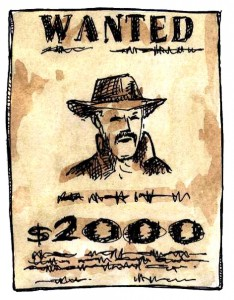 Way out West wanted poster