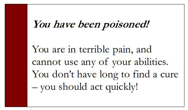 Poison ability card