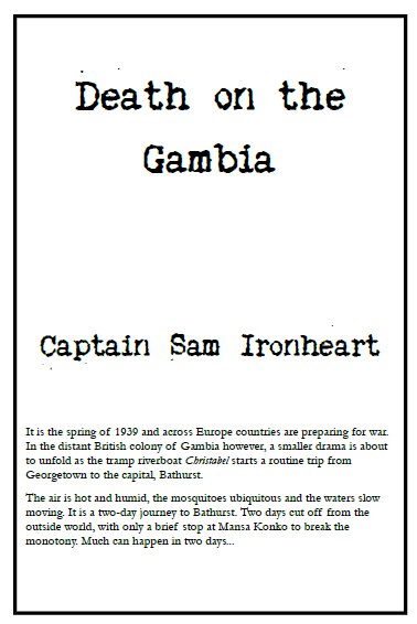 Front cover for the Death on the Gambia cover booklet