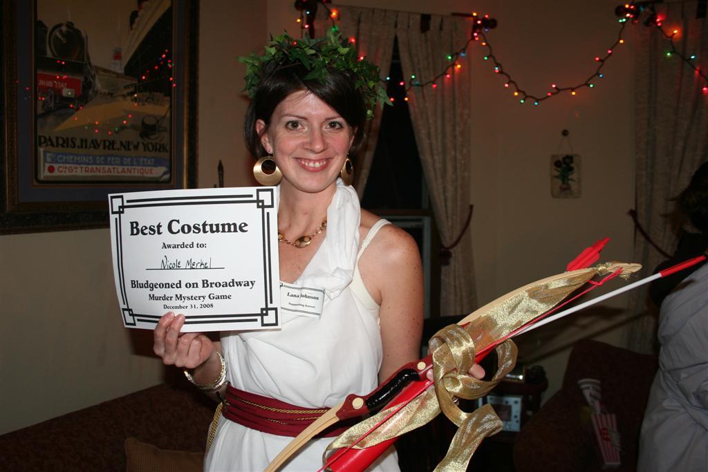 Bludgeoned on Broadway – the prize for Best Costume  – Jennifer Vals