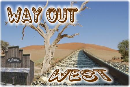 Way out West – invitation artwork 