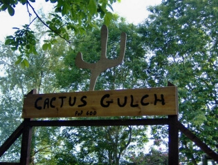 Way out West – the gates of Cactus Gulch  – Kay Lovell
