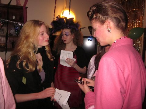Under the Big Top – Alex discussing with Frieda while Quinn secretly watches on!  – Terence Smith