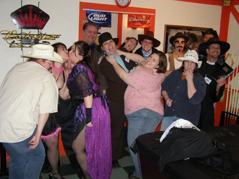 Who Shot the Sheriff – group action shot! 
