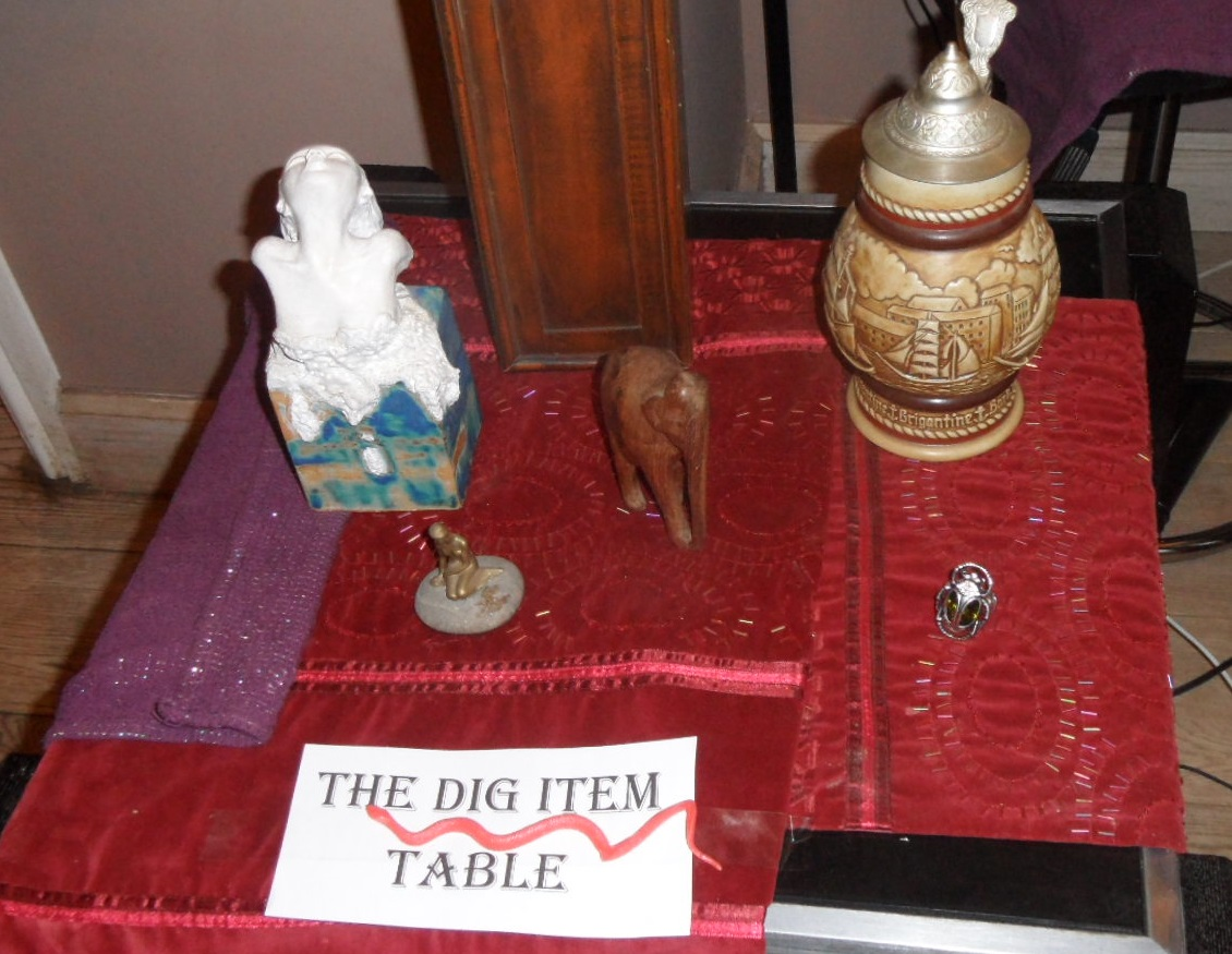Curse of the Pharaoh – the items table 