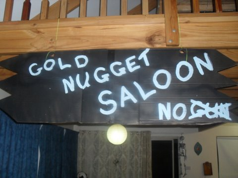 Who Shot the Sheriff – The Gold Nugget Saloon Sign 