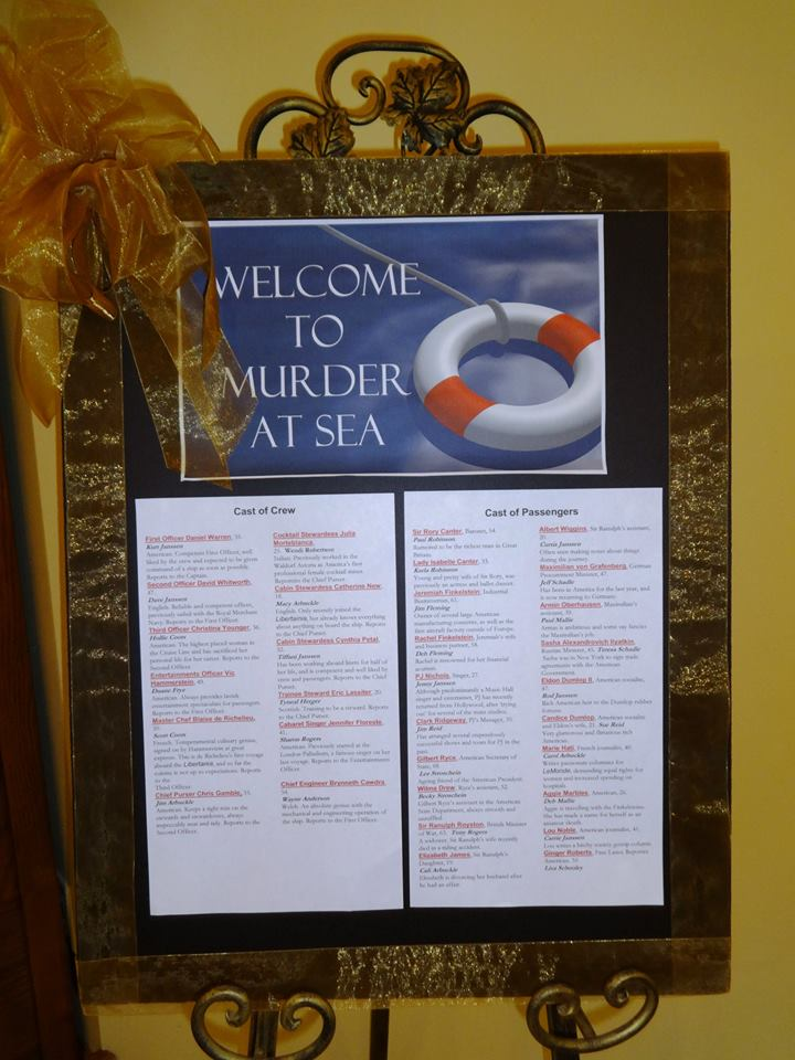 Welcome to Murder at Sea 