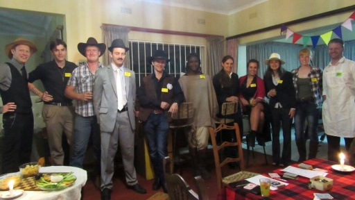 Way out West in Zimbabwe – group shot - Lorraine Shaw
