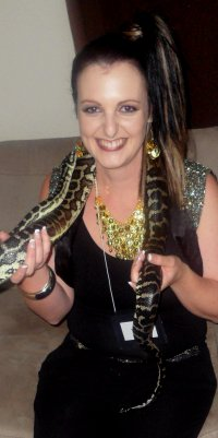 Arabian Nights – the Genie plus carpet python hired for the night
