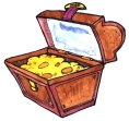 Chest image for kids' pirate party game