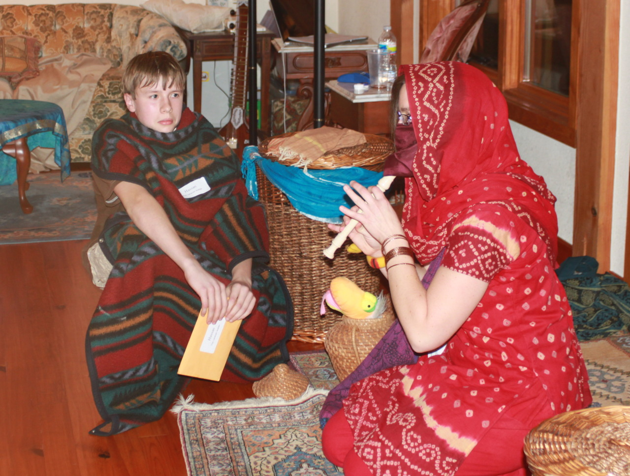 Arabian Nights – Hassan's introduction to Rasha included a snake-charming performance 