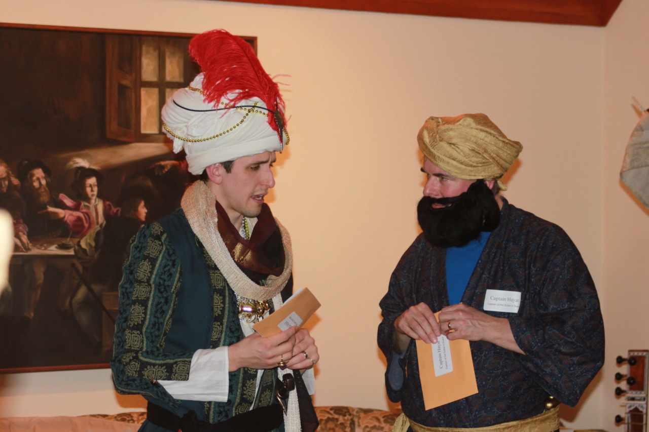 Arabian Nights – The Grand Vizier looks rather nervous as he gives orders to Captain Hayat 